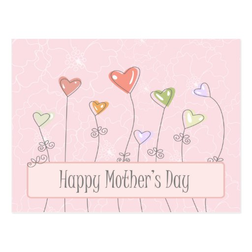 Sweet heart balloons happy mothers day postcard