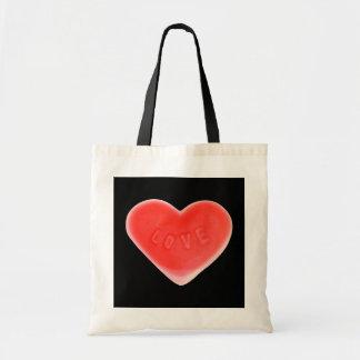 Sweet Heart Black budget tote bag