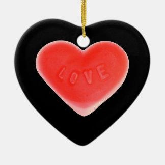 Sweet Heart Black 'Name & Date' ornament heart