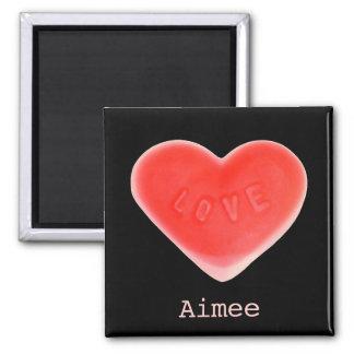Sweet Heart Black 'Name' fridge magnet