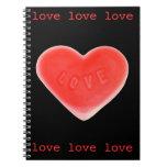 Sweet Heart Black notebook