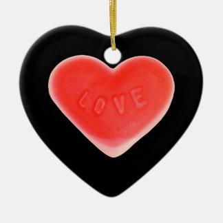 Sweet Heart Black ornament heart