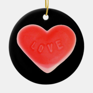 Sweet Heart Black 'Your Text' ornament round