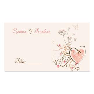 Sweet Heart & Butterfly Swirl Table / Place Card /