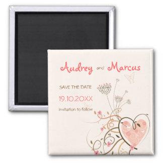 Sweet Heart & Butterfly Swirls Save Date Magnet
