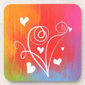 Sweet heart colorful Cork Coaster
