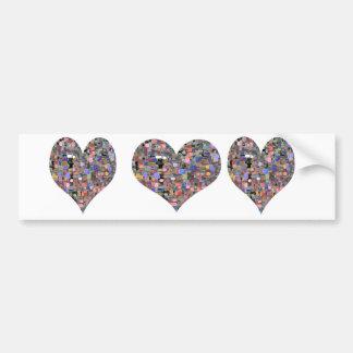 Sweet Heart Floral Marbles Bumper Sticker