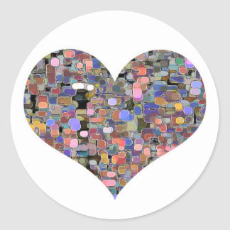 Sweet Heart Floral Marbles Sticker