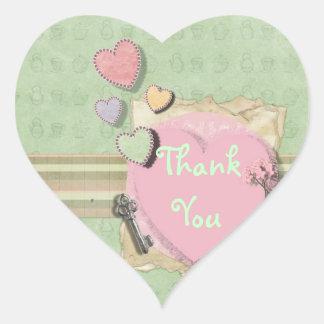 Sweet heart Girl Baby Shower Invitation Stationery Heart Sticker