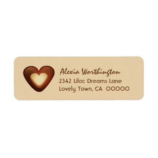 Sweet Heart Iced Chocolate Cookie A04 Return Address Label