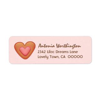 Sweet Heart Iced Cookie A03 Return Address Label