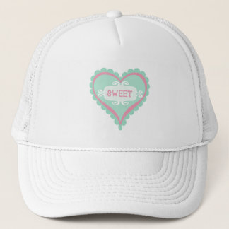 Sweet Heart Mint and Pink Hat