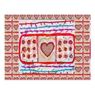 Sweet Heart n Sweet Chocolates: KIDS art Postcard
