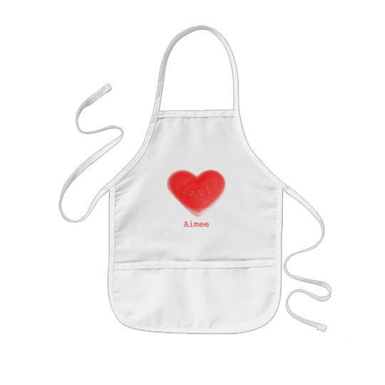 Sweet Heart 'Name' apron kids