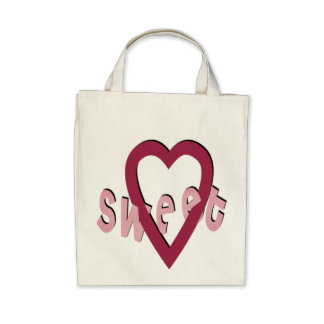 Sweet Heart - Organic Grocery Tote Bag