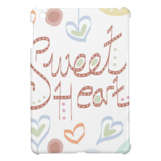 Sweet Heart. Pastel colourful text and print. iPad Mini Cases