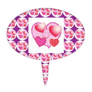 Sweet Heart Patterns  : Pink Theme Cake Topper