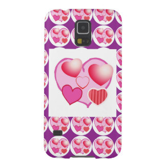 Sweet Heart Patterns  : Pink Theme Galaxy S5 Cases