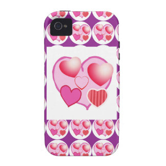 Sweet Heart Patterns  : Pink Theme iPhone 4/4S Cases