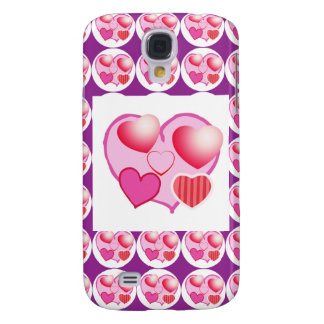 Sweet Heart Patterns  : Pink Theme Galaxy S4 Cover