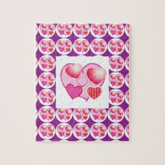 Sweet Heart Patterns  : Pink Theme Jigsaw Puzzle