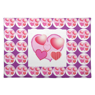 Sweet Heart Patterns  : Pink Theme Placemat