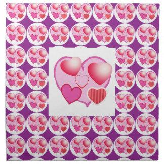 Sweet Heart Patterns  : Pink Theme Printed Napkin