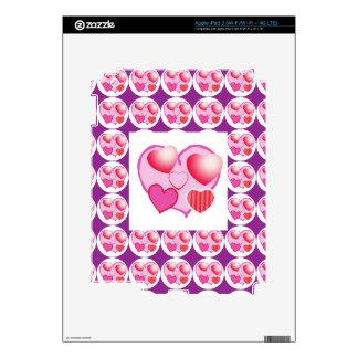 Sweet Heart Patterns  : Pink Theme iPad 3 Skins