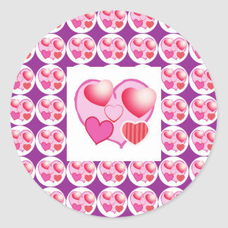 Sweet Heart Patterns  : Pink Theme Stickers
