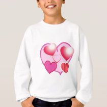 Sweet Heart Patterns  : Pink Theme Sweatshirt
