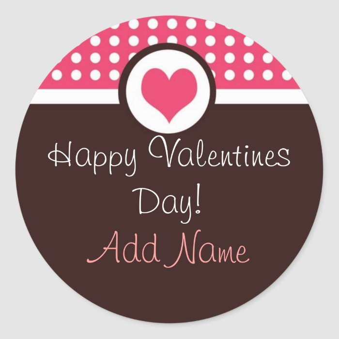 Sweet Heart Personalized Valentine's Day Sticker