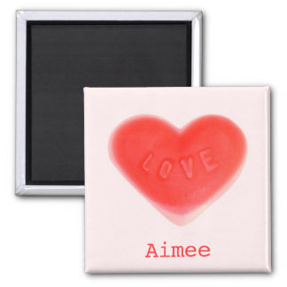 Sweet Heart Pink 'Name' fridge magnet