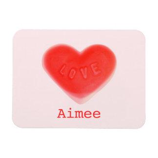 Sweet Heart Pink 'Name' premium magnet