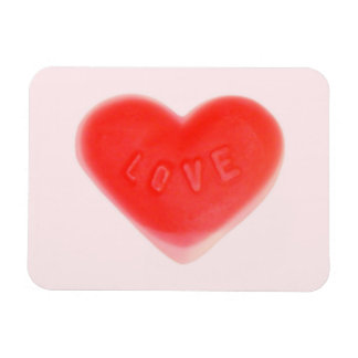 Sweet Heart Pink premium magnet Rectangle Magnets