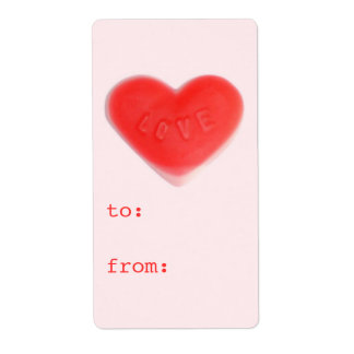 Sweet Heart Pink 'to...from' gift tag label