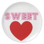 Sweet Heart Plates