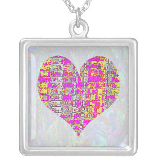 Sweet Heart - Poker Mania Square Pendant Necklace