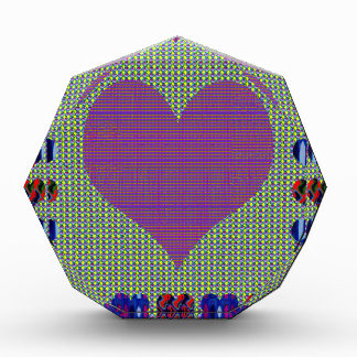 Sweet Heart Purple Acrylic Award