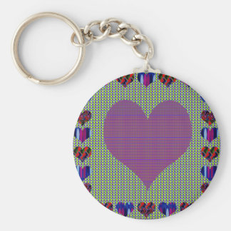 Sweet Heart Purple Keychain