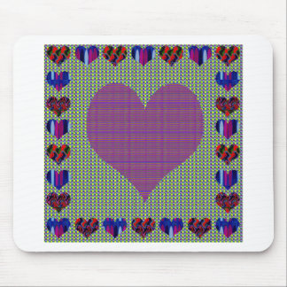 Sweet Heart Purple Mouse Pad