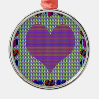 Sweet Heart Purple Christmas Ornaments