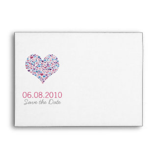 Sweet-Heart Save the Wedding Date Envelopes