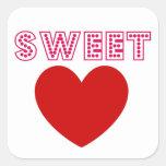 Sweet Heart Square Sticker