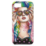 Sweet Heart Tattoed Pin Up Girl iPhone 5 Case