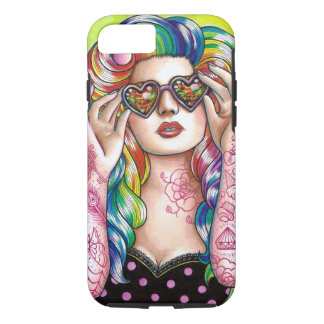 Sweet Heart Tattoed Pin Up Girl iPhone 8/7 Case