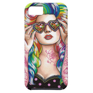 Sweet Heart Tattoed Pin Up Girl iPhone SE/5/5s Case