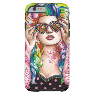 Sweet Heart Tattoed Pin Up Girl Tough iPhone 6 Case