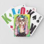 Sweet Heart Tattooed Rainbow Hair Pin up Girl Deck Of Cards