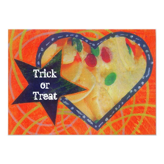 Sweet Heart trick or treat  invitation
