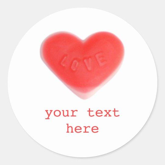 Sweet Heart 'Your Text' sticker round